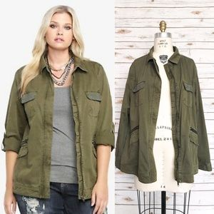 TORRID Military Inspired Embellished Jacket